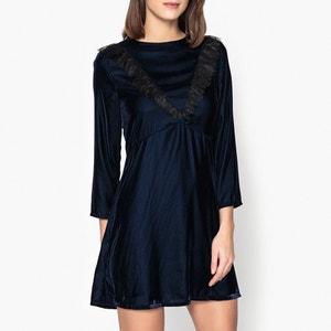 Kleid aus Samt und Spitze FARAH LA BRAND BOUTIQUE COLLECTION