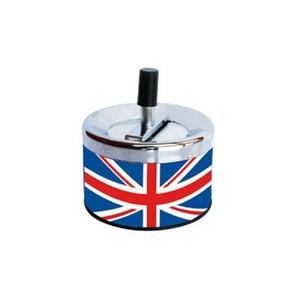 Cendrier en métal poussoir London TROPICO