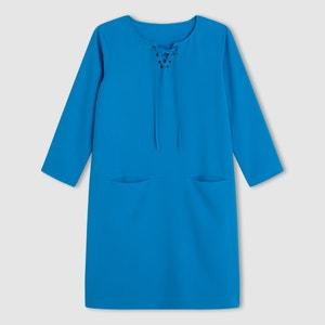 Krótka sukienka z rękawem 3/4 R essentiel