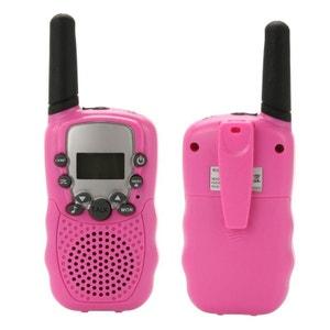 Talkie walkie 22 canaux push to talk écran LCD portée 3 à 5 km Rose Yonis