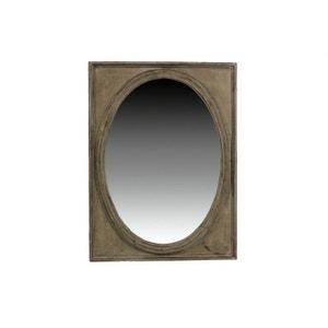 MIROIR ANCIEN OVAL VERTICAL BOIS 54.5x3.5x72cm DECORATION D'AUTREFOIS