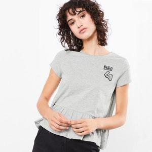 Camiseta con faldón, manga corta y motivos S OLIVER