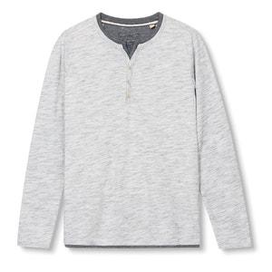 Camiseta de manga larga y cuello tunecino ESPRIT