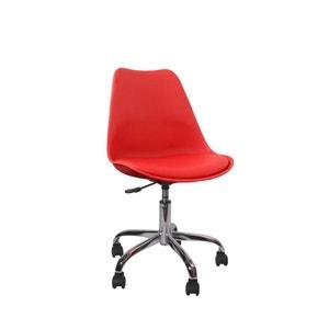 Chaise de bureau rouge La Redoute