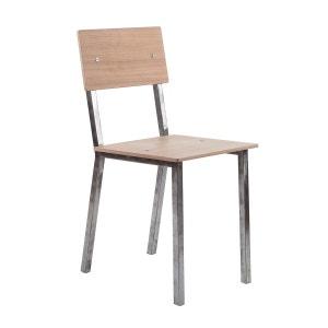 Chaise en acier brut Vaneau ALEX DE ROUVRAY DESIGN
