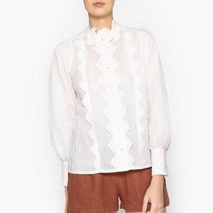 Camisa com folhos LOLAA SHIRT ANTIK BATIK