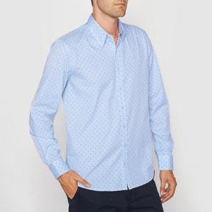 Camicia maniche lunghe taglio dritto 100% cotone La Redoute Collections