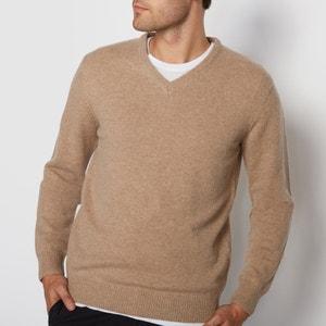 Пуловер с V-образным вырезом,  100% овечьей шерсти La Redoute Collections