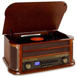 RM1-Belle Epoque 1908 Retro Stereo CD MP3 USB en bois AUNA
