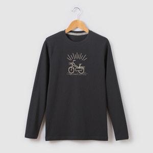 Bedrukt T-shirt met lange mouwen 10-16 jr R pop