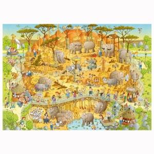 Puzzle 1000 pièces Funky Zoo : Marino Degano, Habitat africain HEYE