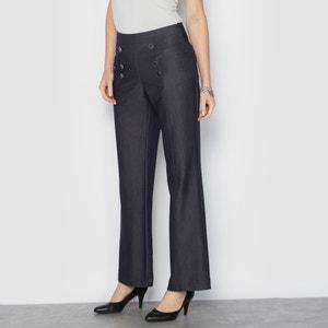 Wijde broek, jeans effect, stretch comfort ANNE WEYBURN