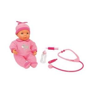BAYER DESIGN La poupée bébé avec kit docteur 38 cm poupée bébé poupée enfant BAYER DESIGN