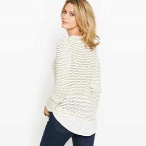 2 in 1 trui in fantasie tricot ANNE WEYBURN