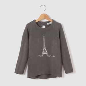 Пуловер удлиненный с рисунком