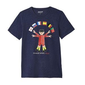 T-shirt met ronde hals, PLAYMOBIL La Redoute Collections