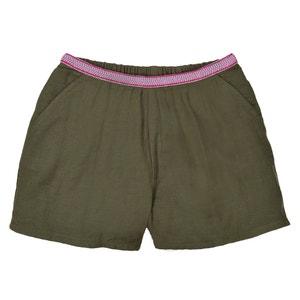 Short met fantasie tailleband in gaaskatoen 3-12 jr La Redoute Collections