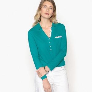 T-shirt polo con maniche lunghe ANNE WEYBURN