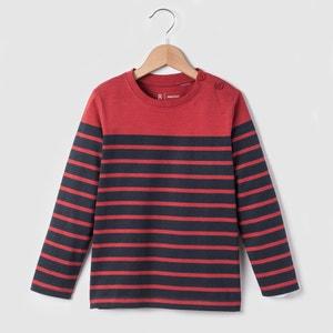 Long-Sleeved Breton T-Shirt, 3-12 Years R essentiel