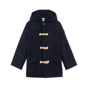 Duffle coat garçon en drap de laine doublé PETIT BATEAU