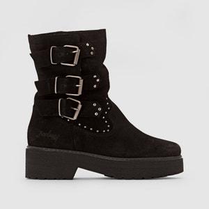 Boots in suèdeleer met bndjes BABOON COOLWAY
