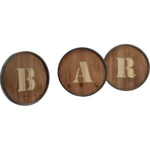 Décoration 3 lettres Bar métal et bois AMADEUS