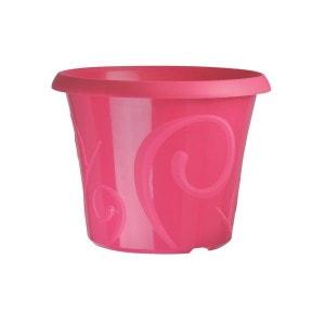 Pots de fleur 25 litres Volutes Rose Pétunia + soucoupe CEP AGRICULTURE