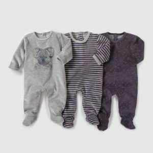 Pyjama velours (lot de 3) 0 mois-3 ans R Edition