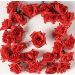 Tetes de rose Artificielle X 24 Argent D 5 cm pour Boule de rose - choisissez votre coloris: Argent ARTIF-DECO