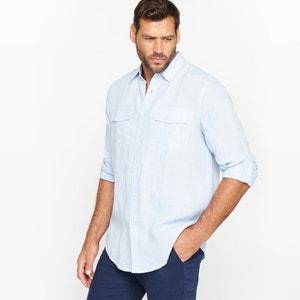 Camisa de mangas compridas em linho CASTALUNA FOR MEN