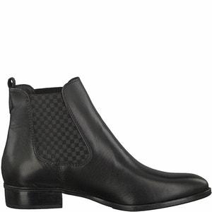 Boots cuir Larissa TAMARIS