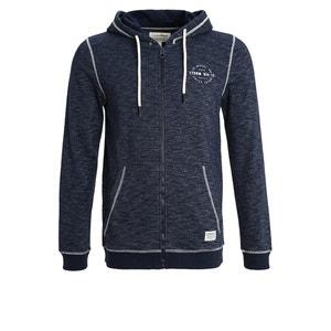 Sweater met rits en kap TOM TAILOR