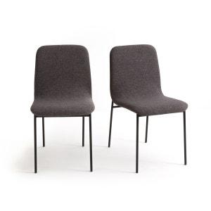 Chaises indus revêtement tissu GUARDI (lot de 2) La Redoute Interieurs