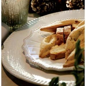 Assiette plate en faience décor renaissance - ATHEZZA