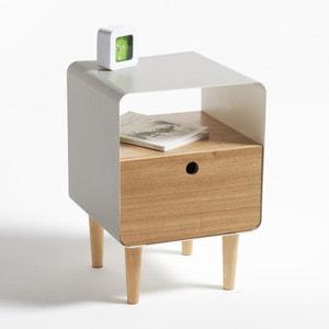 Nachtkastje in hout en metaal, Jimi La Redoute Interieurs