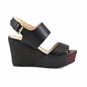 Sandálias de cunha HD122 CAFENOIR