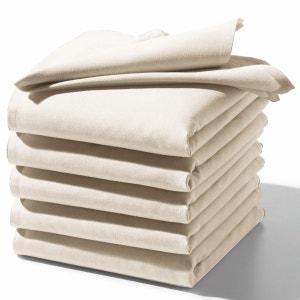 Lote de 6 guardanapos lisos em puro algodão SCENARIO