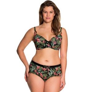 Bedruckter Bikini-Slip mit hohem Bund DORINA
