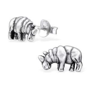 Boucles d'oreilles Rhinoceros Argent 925 SO CHIC BIJOUX
