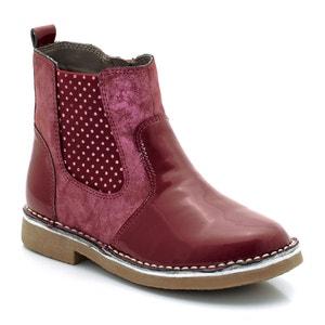 Boots in twee stoffen gelakt/glanzend abcd'R