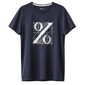 Silkscreen Print Crew Neck Cotton T-Shirt R édition