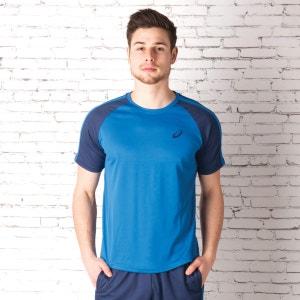 T-shirt AsicsEssentials Colourblock pour homme en bleu et bleu marine ASICS