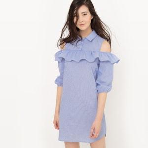 Robe chemise avec volant, coton R édition