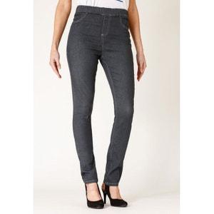 Jeans coupe legging stretch taille haute élastiquée couleur luna RICA LEWIS
