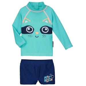 Maillot de bain ANTI-UV 2 pièces t-shirt & slip bébé garçon Crapule PETIT BEGUIN