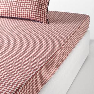 Lençol-capa liso em percal de algodão, Cravate rosa La Redoute Interieurs