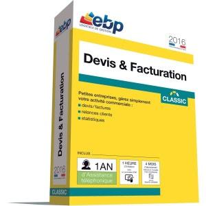 Logiciel PC EBP Devis & Facturation Classic 2016 + VIP EBP
