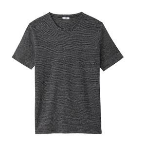 Gestreiftes T-Shirt aus Leinen mit rundem Ausschnitt La Redoute Collections