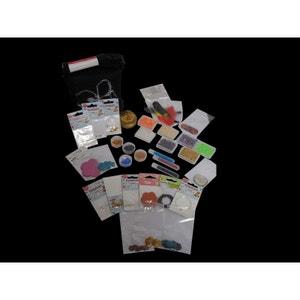 Sacoche création bijoux, 2100 toupies Swarovski, nacres, rocaille et fermoirs - Perles Box PERLES BOX