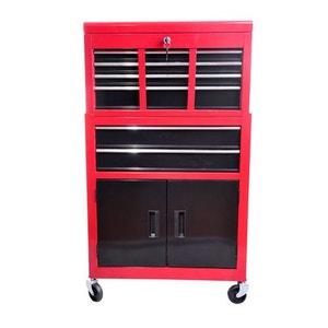 Servante d'atelier caisse à outil 6 tiroir +1 commode rouge et noir - HOMCOM HOMCOM